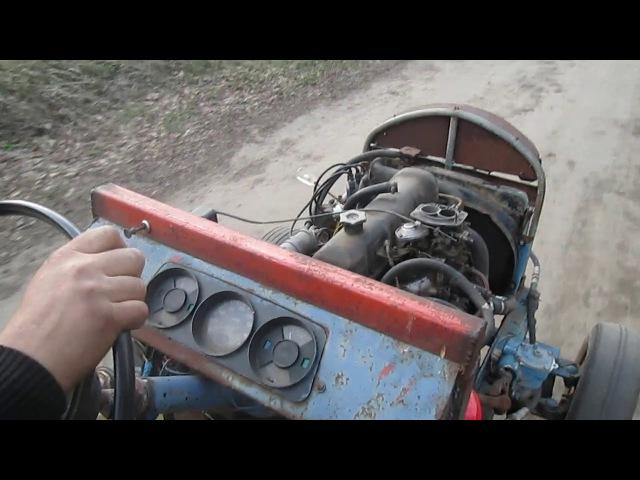 Саморобний трактор з котком