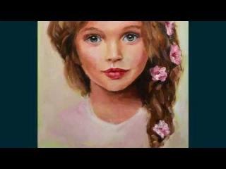 Портрет маслом Анны Павага, мастер-класс, алла прима, основы портрета / Oil portrait Anna Pavaga