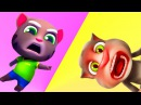 ✿Говорящий кот Том бег за ЗОЛОТОМ. Анжела и Том Игровой мультфильм. Мультик игра видео для детей