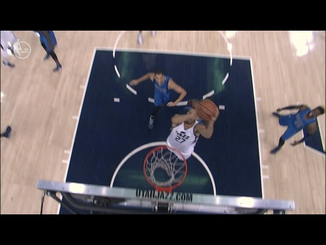 Boris Diaw Alley-Oop to Rudy Gobert   Mavericks vs Jazz   December 16, 2016   2016-17 NBA Season