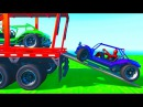 Transportation colors cars with spiderman and superheroes cartoon for kids