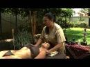 Masaje relajante con bambu