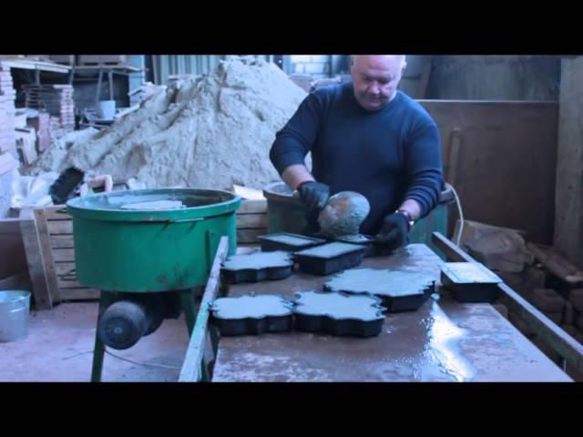Видео изготовления тротуарной плитки и брусчатки от компании Экобетон