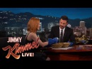 Jessica Chastain and Jimmy Kimmel Eat the Bleu Cheese of Fruit
