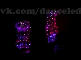 Светодиодые пиксельные веера - вейлы. 1,5м