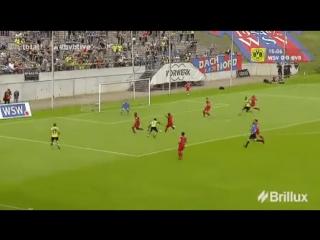 19-летний Усман Дембеле в дебютном матче за «Боруссию»