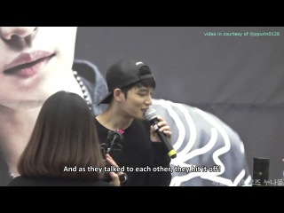 [ENG SUB] Having Jaejoong's picture on your phone as a man answers for your character?