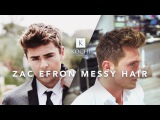 Zac Efron Messy Hair  Medium Length Mens Hairstyle
