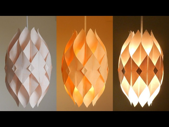 DIY lamp (Eternal flame) - learn how to make a paper lampshadelantern - EzyCraft