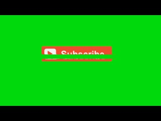 Subscribe Buttons with Glitch #1 [Fundo Verde - Green Screen]