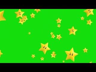 Estrelas do Mario Caindo #1 - Mario Stars Falling #1 [Fundo Verde - Green Screen]