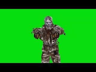 Zumbi Andando #1 - Zombie Walking #1 [Fundo Verde - Green Screen]