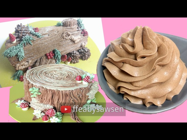 Sawsen's Easy Chocolate Buttercream recipe 🍫🍫 fluffy silky smooth yum Just 4 ingredients 🍦🍦