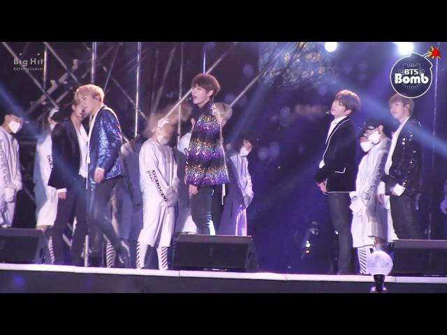 [BANGTAN BOMB] stage greeting the New Year @ MBC 가요대제전 2016 - BTS (방탄소년단)