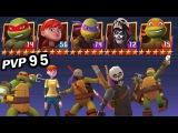 TMNT Legends PVP 95 (Donatello &amp Michelangelo &amp Raphael Legend, April O'Neil, Casey Jones)