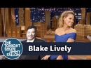 Jimmy Gives Blake Lively a Life Size Cutout of Himself