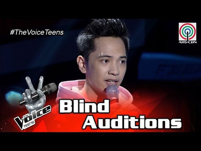 The Voice Teens Philippines Blind Audition: Franz Dacanay - Right Here Waiting