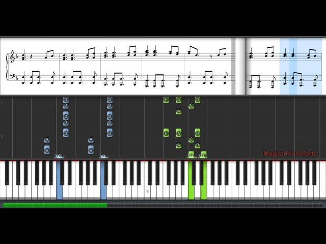 Как играть на пианино пираты карибского моря