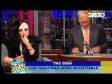 Lady Gaga eats paper on 'Letterman'