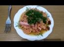 Необычное блюдо с сосисками An unusual dish with sausage