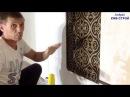 Как поклеить флизелиновые обои и сделать декоративное панно Часть 1