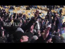 Ukraine: Dynamo Kiev fans burn Turkish flags at Bestikas match