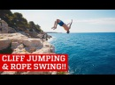 Extreme Cliff Jumping Giant Rope Swing | PEOPLE ARE AWESOME 2016