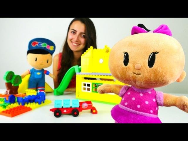 LEGO toplama oyunları.Sevcan, Pepee ve Bebe LEGO topluyor. eğiticivideo