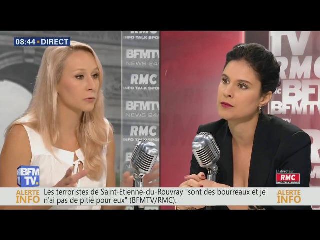 Marion Maréchal Le Pen J'étais ce matin l'invitée d'Apolline de Malherbe sur BFMTV et RMC
