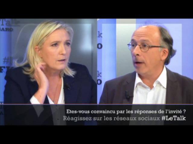 Marine Le Pen était l'invitée du Talk Le Figaro