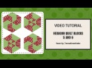 Video tutorial Hexagon blocks 5 and 6 made with equilateral triangles
