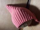 Модная детская шапочка спицами как связать Урок по вязанию Pixiehat шапочка
