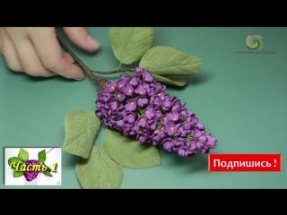 МК Как сделать сирень Часть 2_Сирень из фоамирана_Lilac made with foamiran