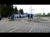 Строительство катка на стадионе