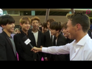 Australian Media outlet Scoopla posted a video of their interview with BTS at the BBMAs Magenta Carpet, 170522
