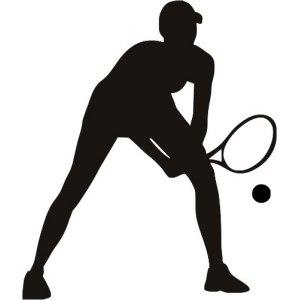 наклейка теннисист на авто цена