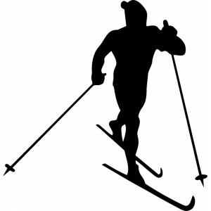 наклейка лыжник на авто цена