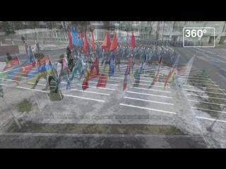 Коптеры сняли репетицию курсантов МЧС к параду Победы