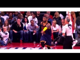 Kyrie Irving Drains a Corner Three to Ice