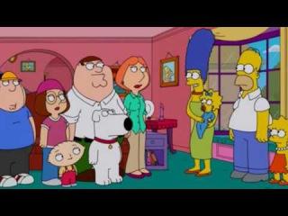 Гриффины попали в мир Симпсонов 1 Часть (Проф.Озвучка)