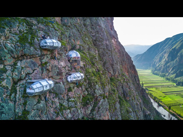 SKYLODGE ADVENTURE SUITES Cusco, Peru | Via Ferrata Climbing Zipline | by Natura Vive