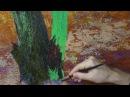 Урок для начинающих художников Пишем дуб опавшую листву моросящий дождь Часть 1 Юрий Клапоух