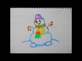 Как Просто Нарисовать Снеговика #70 / How Easy It Is To Draw A Snowman