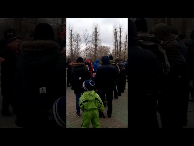 Митинг в Казани За родной русский язык и добровольное изучение татарского языка. 22.04.17