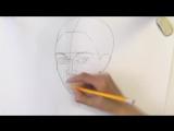 Уроки рисования. Как нарисовать ЛИЦО ЧЕЛОВЕКА карандашом - Art School