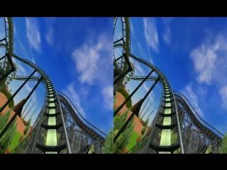 3d active-passive -  roller coaster - test 3d side by side