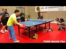 Ma Long training with Kid - table tennis training