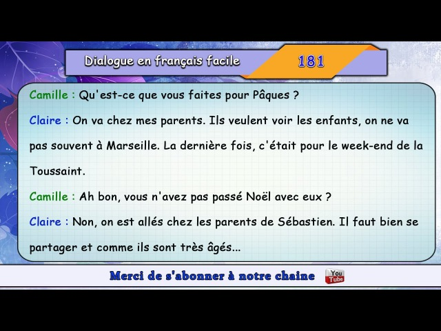 Parler français couramment en écoutant des dialogues