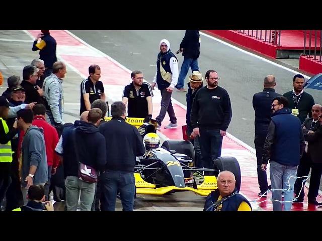 Giancarlo Minardi al primo giro in F1