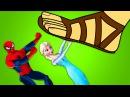Человек-паук и Эльза, Забавные мультфильмы про Супергероев